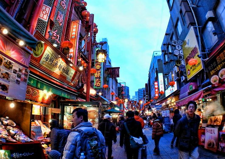 春節の中国の市場