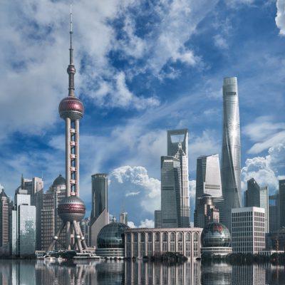 発展した中国の町並み